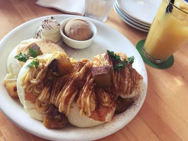 安納芋のパンケーキ