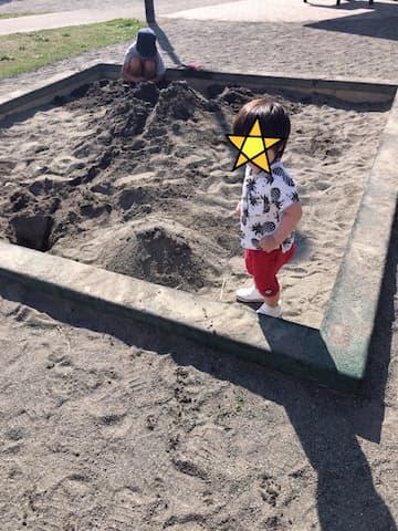 あかね公園の砂場