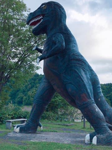 桂沢湖 恐竜