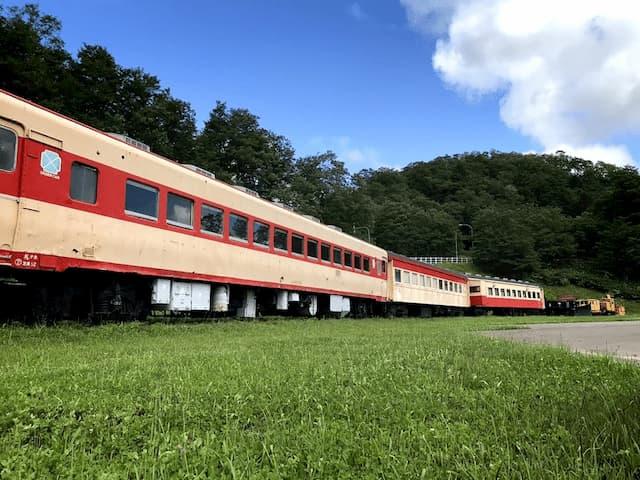 三笠鉄道村にある電車