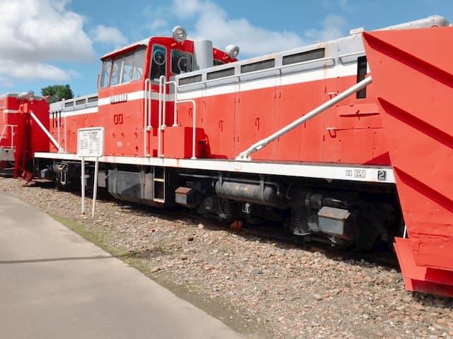 展示されている鉄道