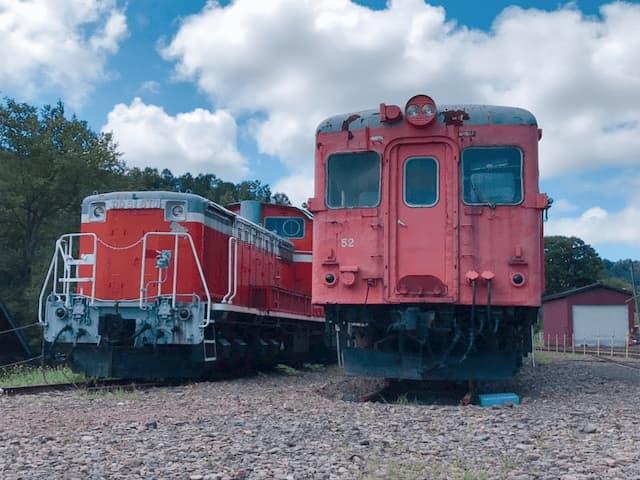 三笠鉄道村に展示されている鉄道