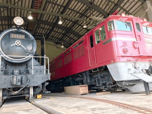 鉄道村に展示されている鉄道