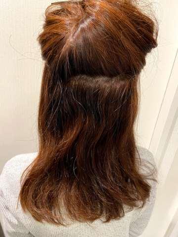 癖毛の部分