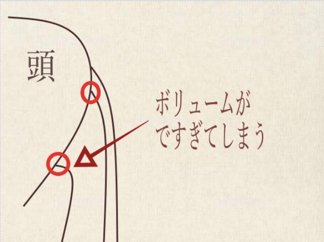 ブローでボリュームがですぎてしまう説明