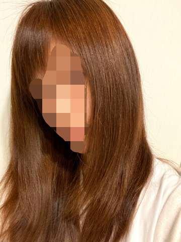 トリートメント後の髪
