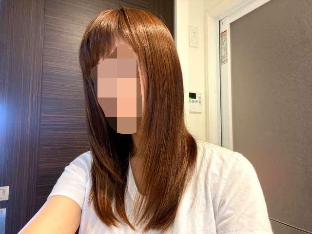 仕上がりの髪