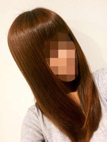 乾かした後の髪のツヤ