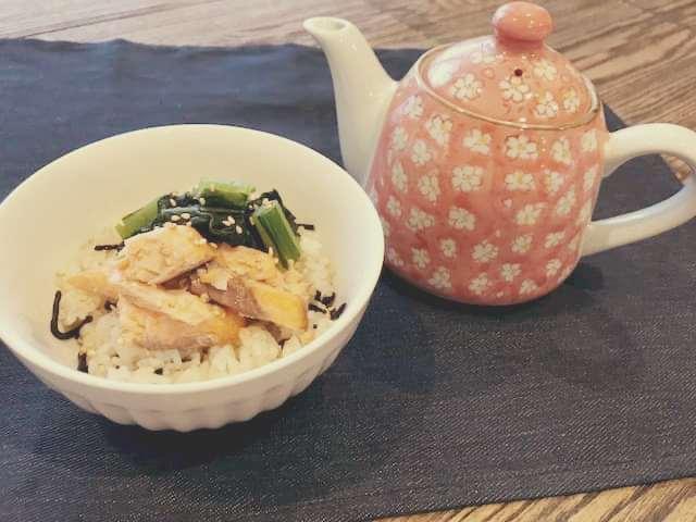 鮭と野沢菜の2way丼