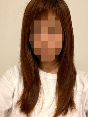 【ロレッタ】ナイトケアクリームをつけてドライした髪