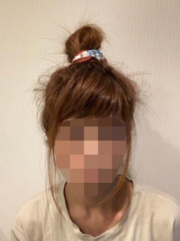 簡単にしたまとめ髪